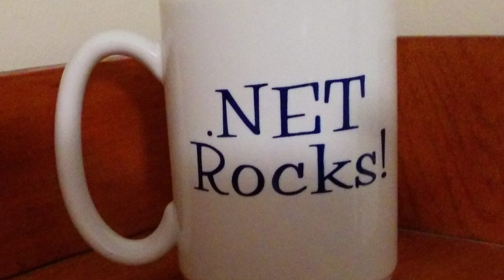My .Net Rocks mug!