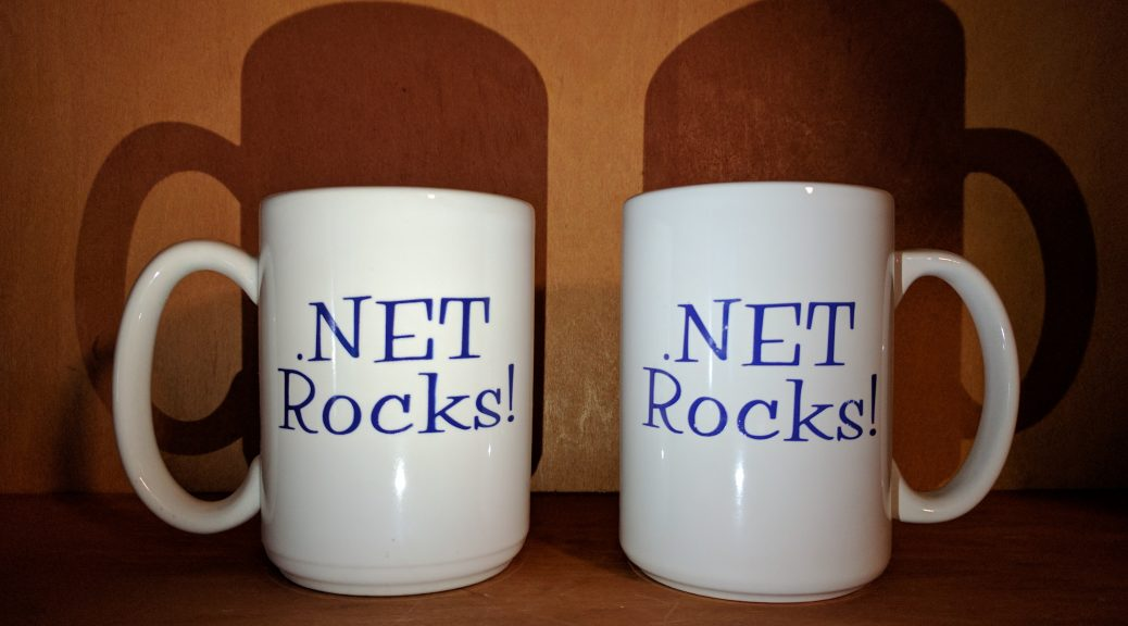 Two .Net Rocks! mugs