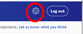 "PayPal ""settings"" gear icon."